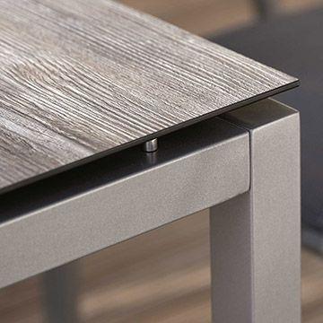 Aluminium Tischgestell graphit