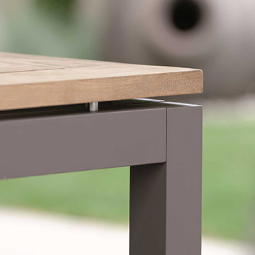 Aluminium Tischgestell taupe
