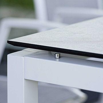 Aluminium Tischgestell weiß