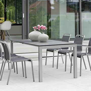 Ausziehtisch Aluminium Select 160/210x90