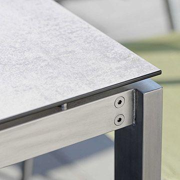 Edelstahl Tischgestell Rechteckrohr