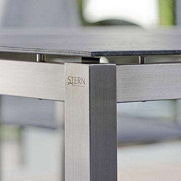 Edelstahl Tischgestell Vierkantrohr