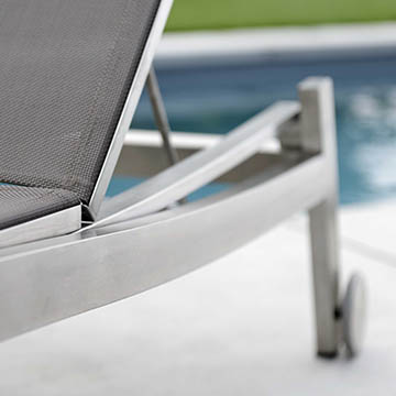 Allround Stainless Steel Sunlounger
