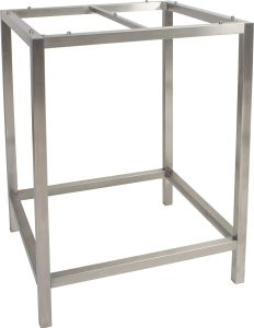 Bar table frame 80x80 cm stainless steel