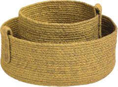 Basket-set 2 Pieces rope yellow