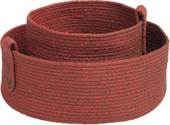 Basket-set 2 Pieces rope red