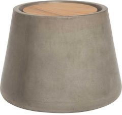Side table concrete Ø 45 cm conical with teak top FSC®-certified