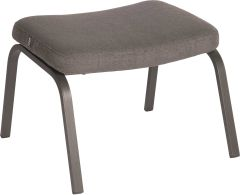 Foot stool Stan aluminium anthracite with cover outdoor fabric dark grey & slate grey mixed