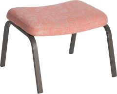 Foot stool Stan aluminium anthracite with cover outdoor fabric coral & silk grey mixed