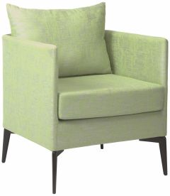 Armchair Marta aluminum cover und cushion outdoor fabric fern green & silk grey mixed