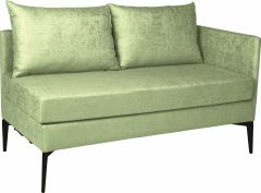 Element 2-seater Marta aluminum armrest left cover outdoor fabric fern green & silk grey mixed