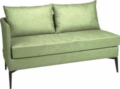 Element 2-seater Marta aluminum armrest right cover outdoor fabric fern green & silk grey mixed