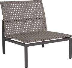 Lounge middle element Lucy aluminium anthracite with belt platinum