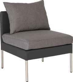 Middle element Miguel aluminum cover anthracite with cushion Dessin silk grey