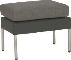 Stool Miguel aluminum cover anthracite with cushion Dessin silk grey