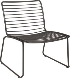 Lounge armchair Levi stainless steel anthracite stackable