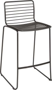 Bar chair Levi stainless steel anthracite stackable