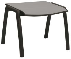 Stool Kari aluminum anthracite with cover textilen silver