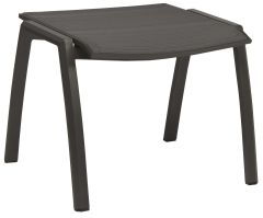 Stool Kari aluminum anthracite with cover textilen carbon