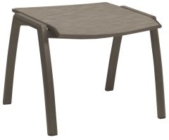Stool Kari aluminum taupe with cover textilen cashmere