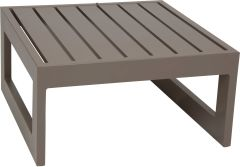 Side table/stool Holly aluminum taupe with aluminum slats