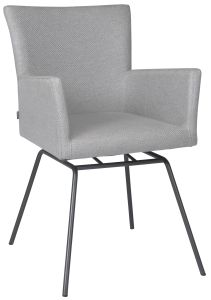 Armchair Artus VIP frame stainless steel anthracite with cover outdoor fabric Dessin crystal silver