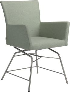 Armchair Artus VIP frame stainless steel with cover outdoor fabricl Dessin crystal mint green