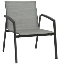Lounge stacking armchair New Top aluminum anthracite cover textilen silver & aluminum armrests anthracite