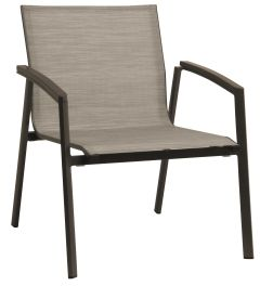 Lounge stacking armchair New Top aluminum taupe cover textilen cashmere & aluminum armrests taupe