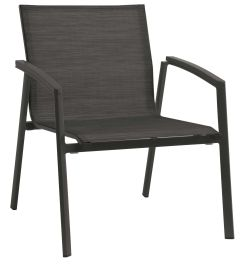 Lounge stacking armchair New Top aluminum anthracite cover textilen carbon & aluminum armrests anthracite