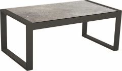 Side table Allround aluminum anthracite with table top Silverstar decor Vintage stone