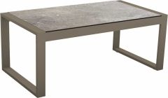 Side table Allround aluminum taupe with table top Silverstar decor Vintage stone