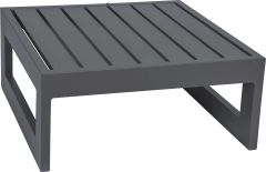 Side table/stool Holly aluminum anthracite with aluminum slats