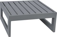 Side table/stool Holly aluminum graphite with aluminum slats