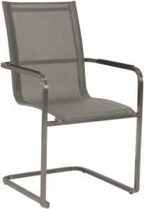 Cantilever Evoee stainless steel with cover textilen silver & aluminum armrests anthracite