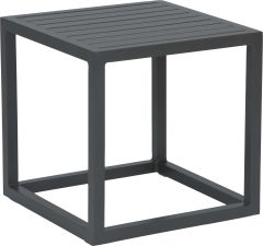 Side table Robin aluminum anthracite with aluminum slats