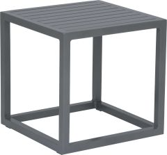 Side table Robin aluminum graphite with aluminum slats