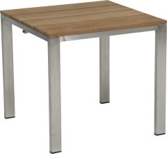 Stool Arima stainless steel with teak slats FSC®-certified