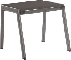 Stacking Stool Allround aluminum graphite with textilen silver grey