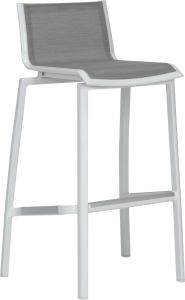 Bar chair Allround aluminum white with textilen silver