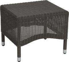 Stool Sortino with wicker basalt grey