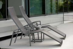 Relaxliege Balance aluminum graphite with cover textilen silver grey