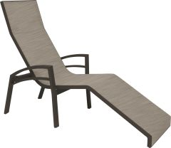 Relax lounger Balance aluminium taupe with textilen cachmere