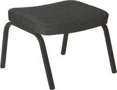 Stool for wing chair Stan aluminum anthracite with cover textilen carbon