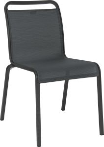 Stacking chair Oskar aluminum anthracite with cover textilen carbon