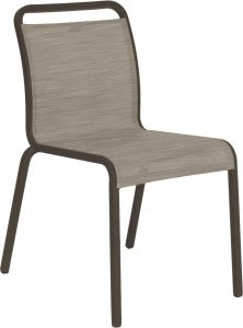 Stacking chair Oskar aluminum taupe with cover textilen cashmere