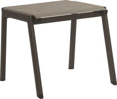 Stacking Stool Allround aluminum taupe with textilen cashmere