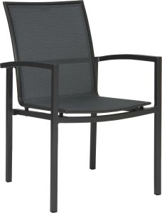 Stacking armchair Skelby aluminum anthracite with cover textilen carbon