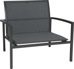 Lounge armchair Skelby aluminum anthracite with cover textilen carbon