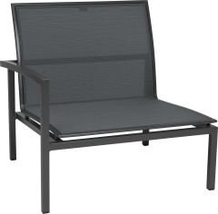 Loungeside element Skelby aluminum anthracite with cover textilen carbon und armrest right